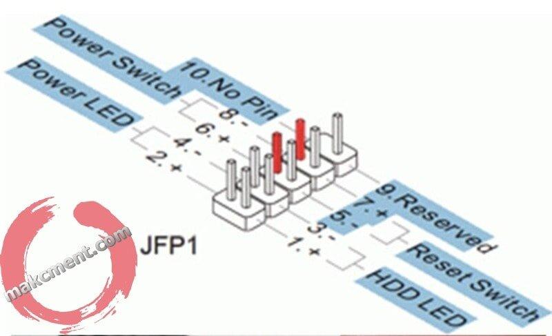 Asrock h110m-dgs схема подключения